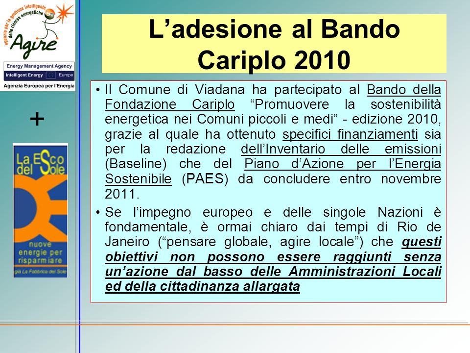 L'adesione al Bando Cariplo 2010