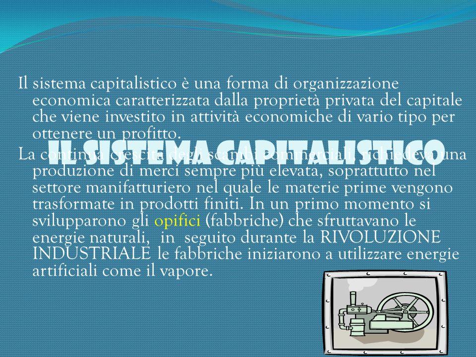 IL SISTEMA CAPITALISTICO