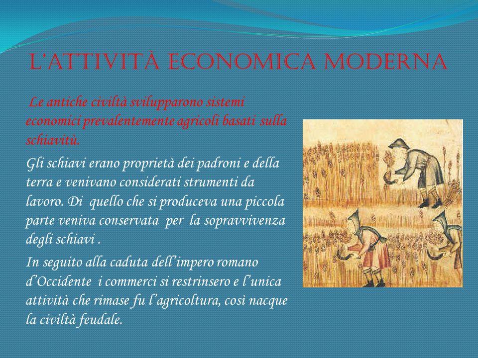 L'attività economica moderna