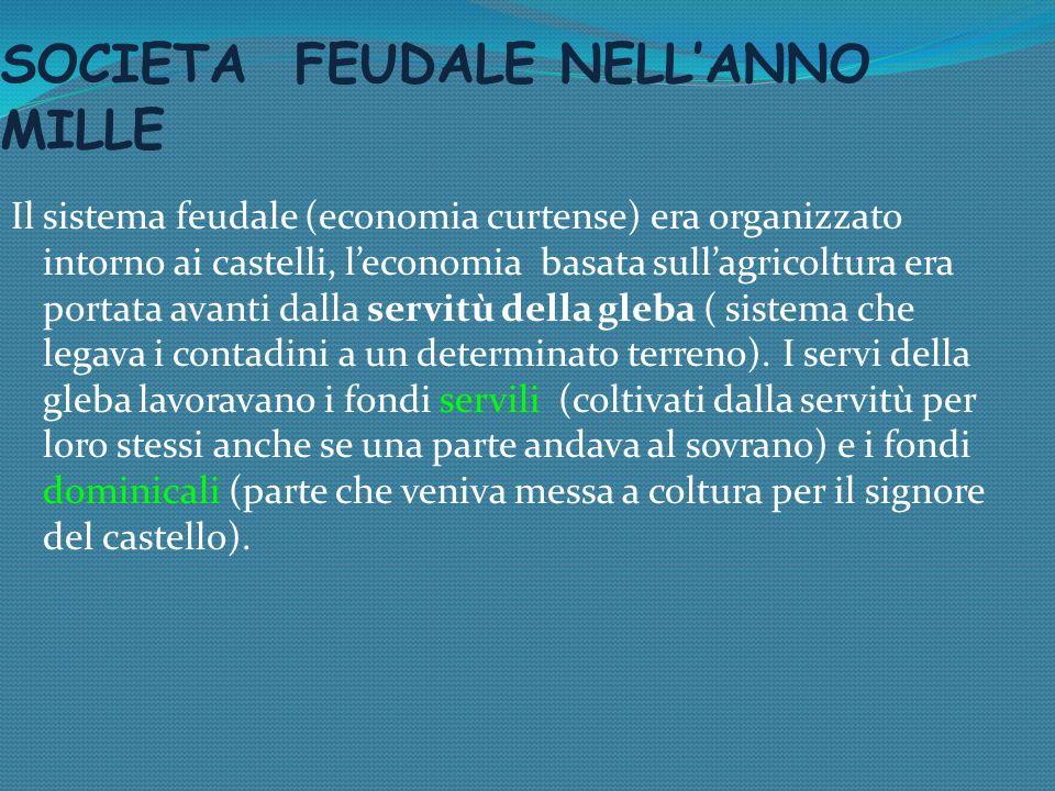 SOCIETA FEUDALE NELL'ANNO MILLE