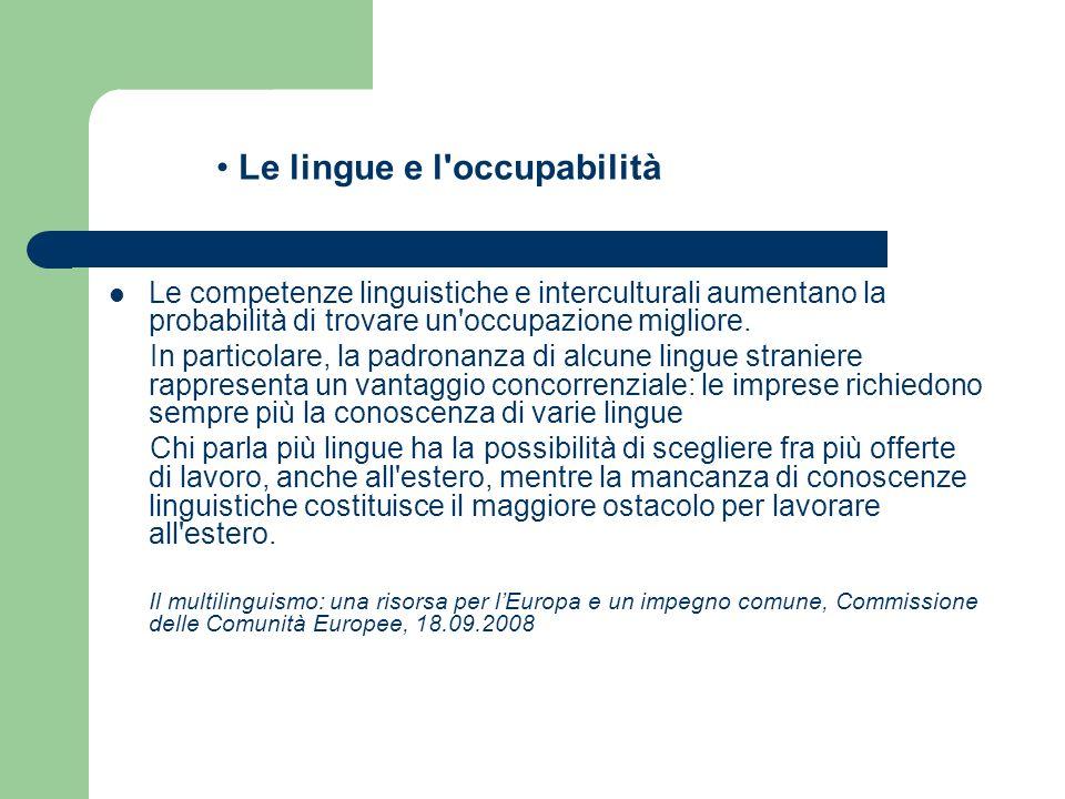 Le lingue e l occupabilità