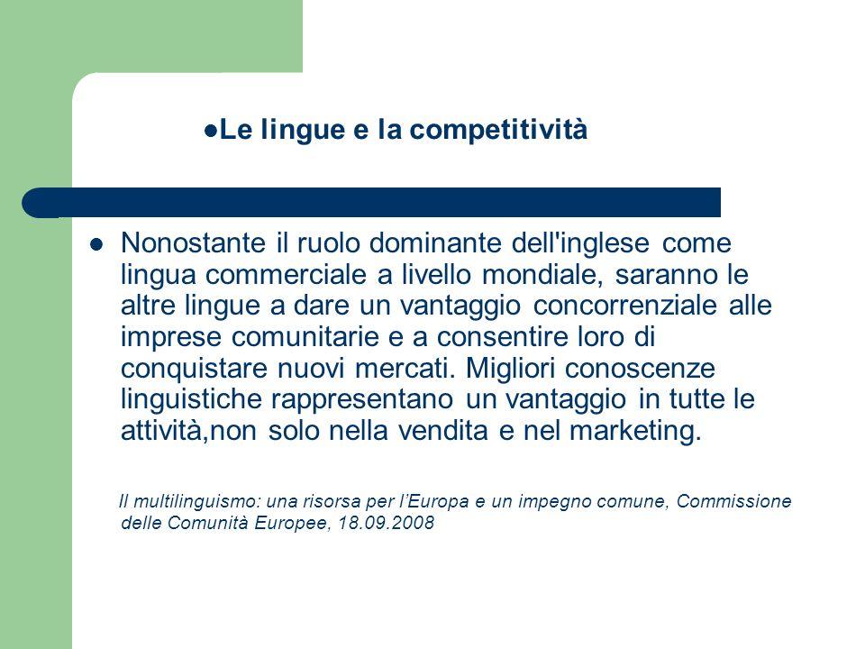 Le lingue e la competitività