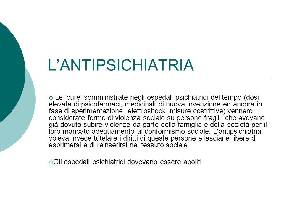 L'ANTIPSICHIATRIA