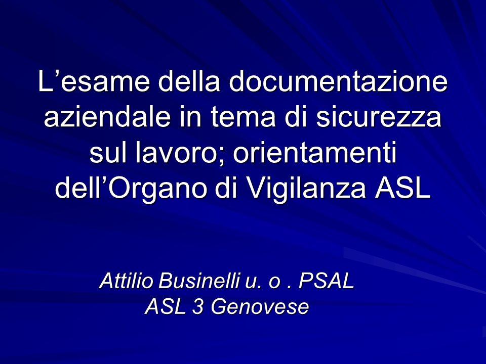 Attilio Businelli u. o . PSAL ASL 3 Genovese