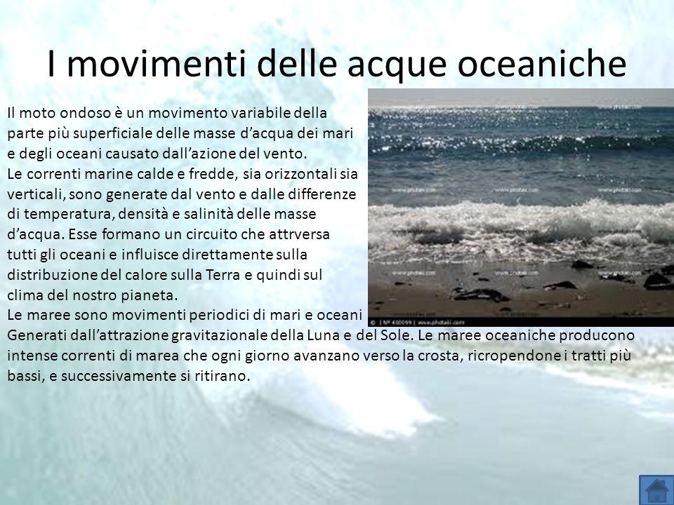 I movimenti delle acque oceaniche