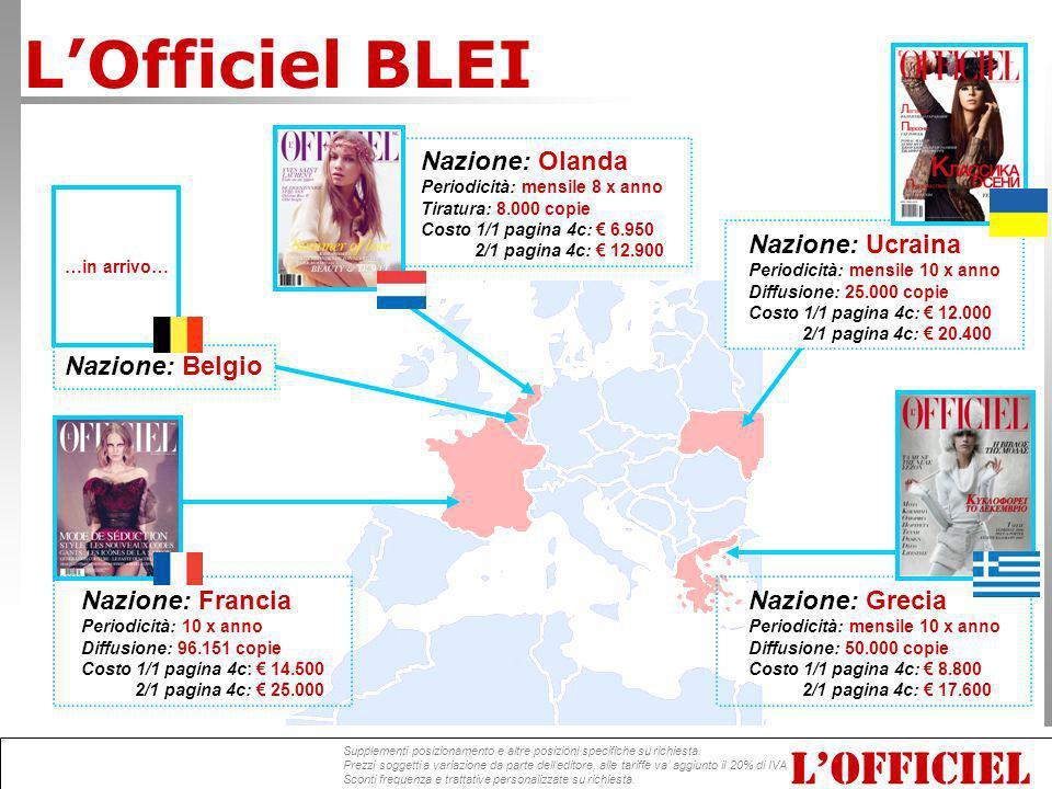 L'Officiel BLEI L'OFFICIEL Nazione: Olanda Nazione: Ucraina