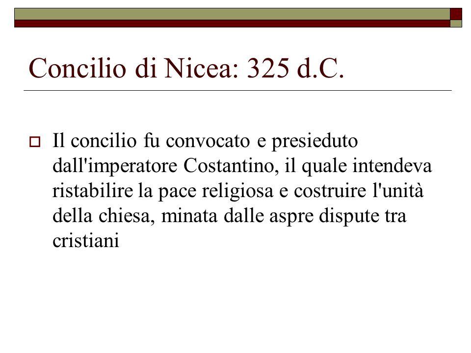 Concilio di Nicea: 325 d.C.