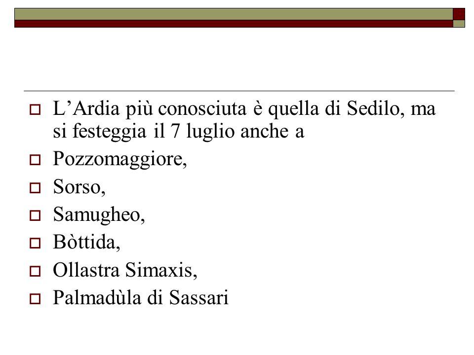 L'Ardia più conosciuta è quella di Sedilo, ma si festeggia il 7 luglio anche a