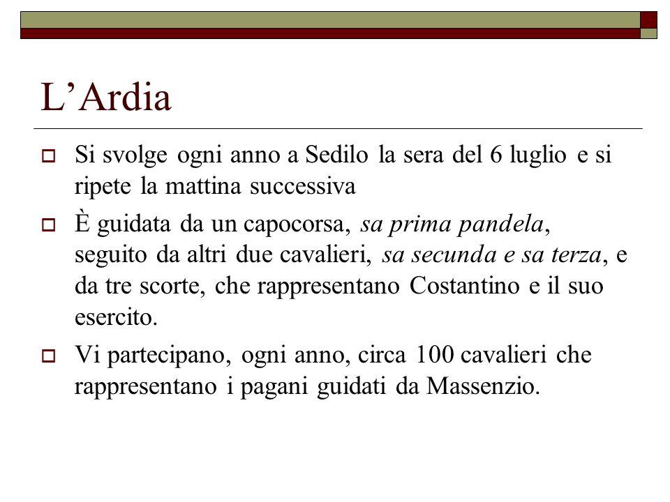 L'Ardia Si svolge ogni anno a Sedilo la sera del 6 luglio e si ripete la mattina successiva.