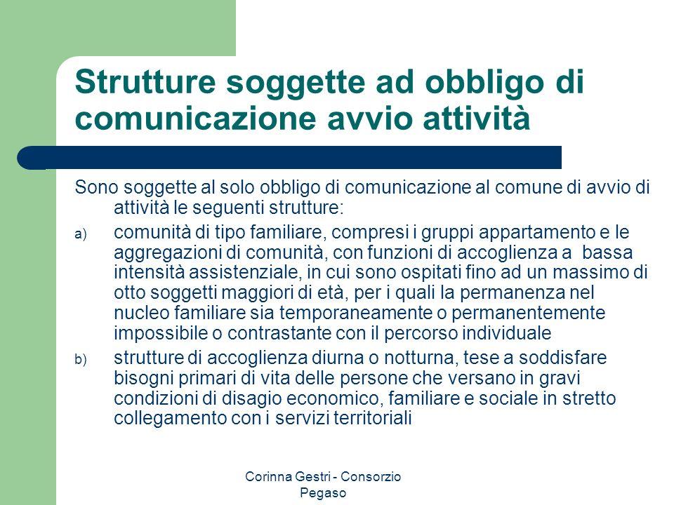 Strutture soggette ad obbligo di comunicazione avvio attività