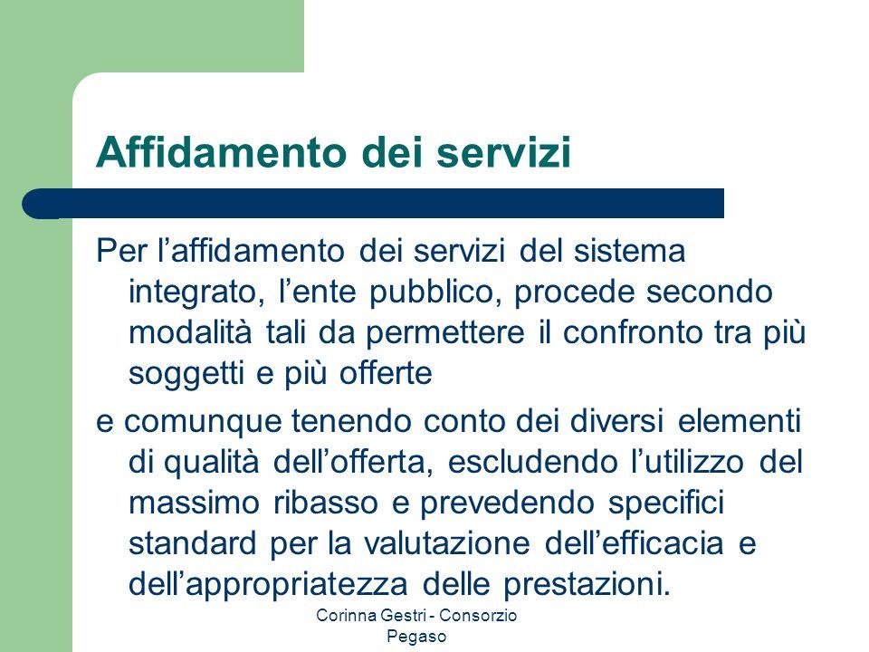 Affidamento dei servizi