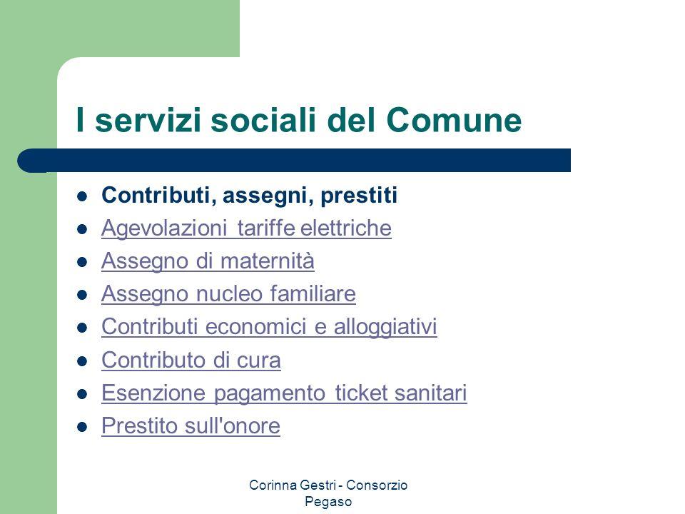 I servizi sociali del Comune