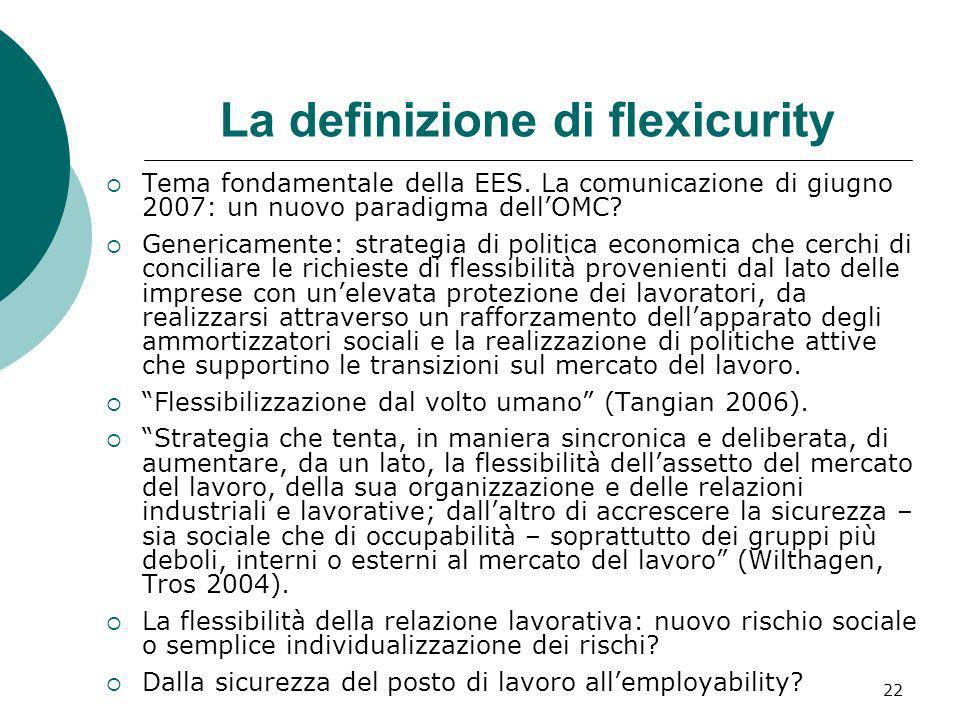 La definizione di flexicurity
