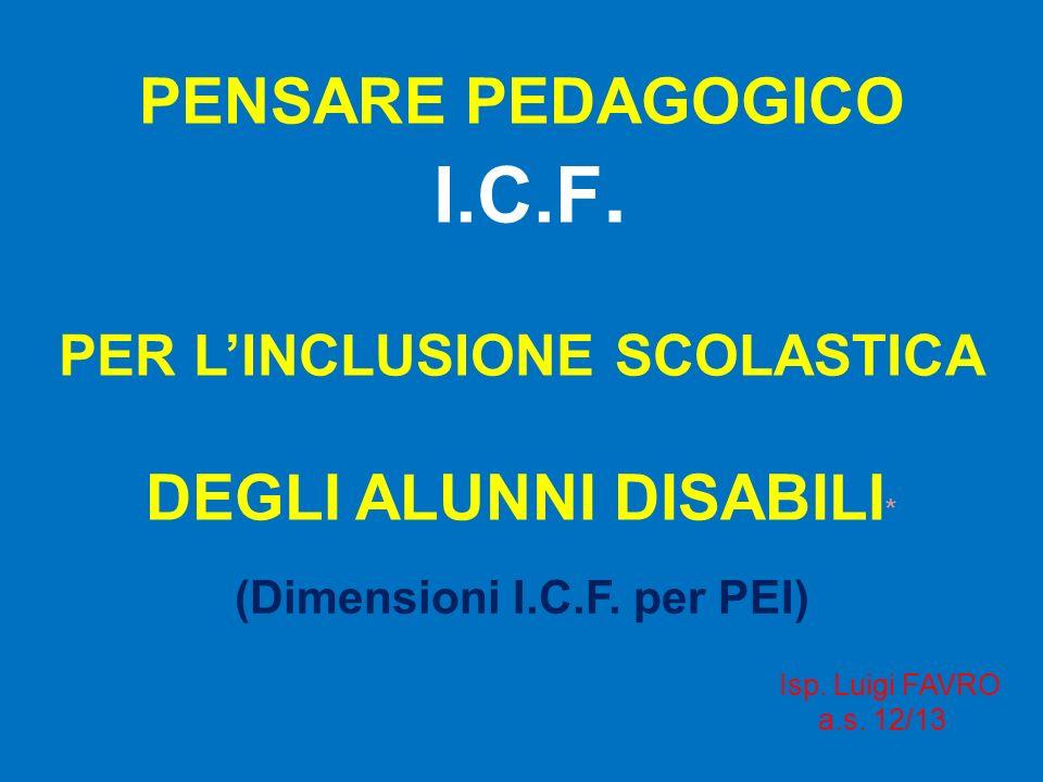(Dimensioni I.C.F. per PEI)