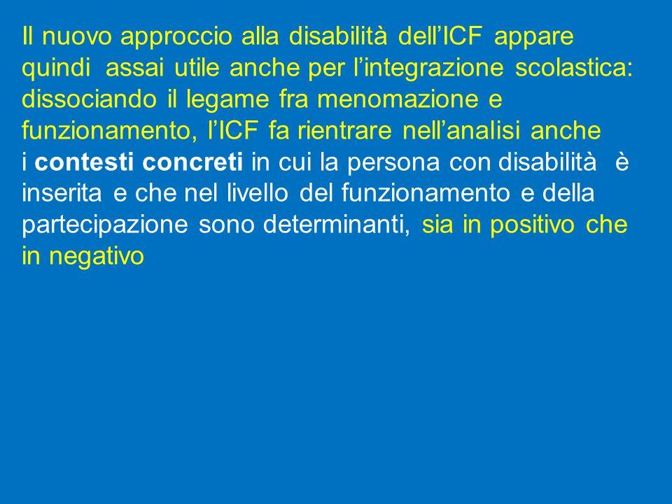 Il nuovo approccio alla disabilità dell'ICF appare