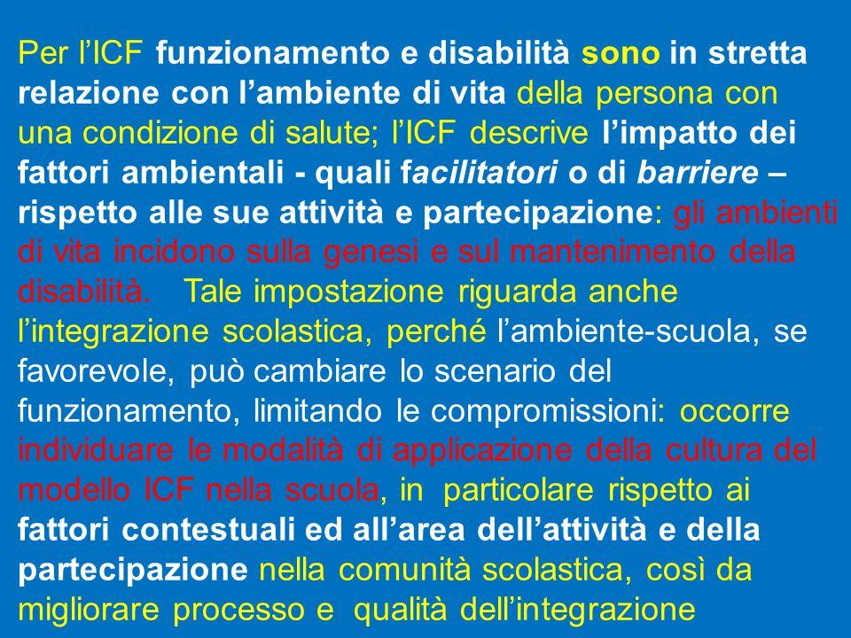 Per l'ICF funzionamento e disabilità sono in stretta