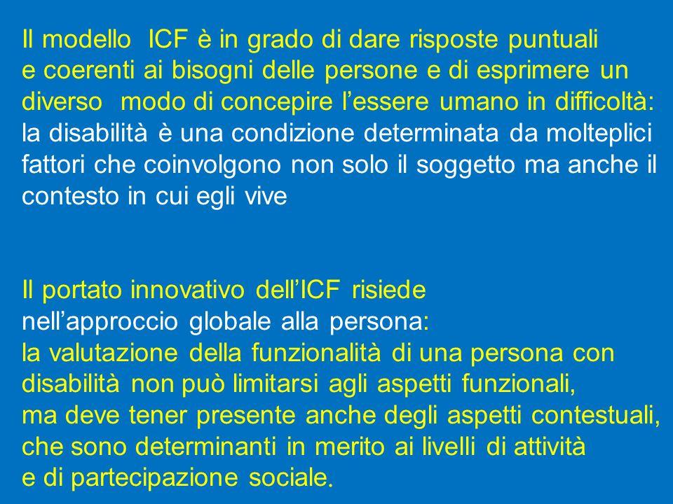 Il modello ICF è in grado di dare risposte puntuali