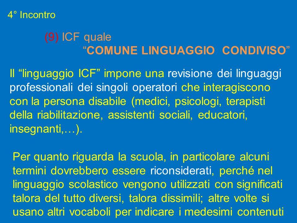 Il linguaggio ICF impone una revisione dei linguaggi