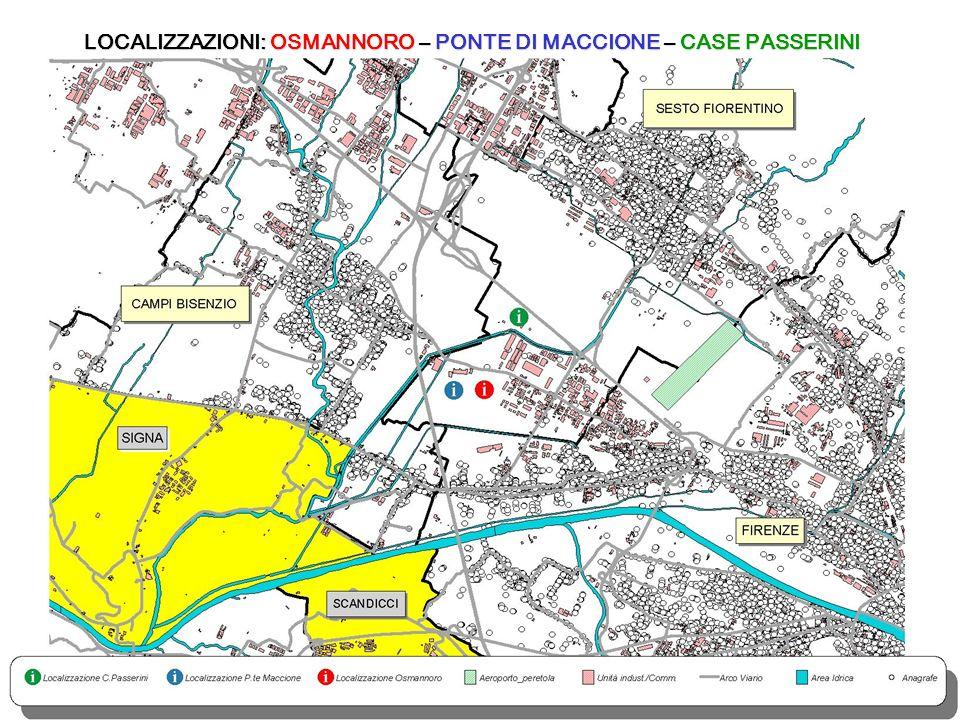 LOCALIZZAZIONI: OSMANNORO – PONTE DI MACCIONE – CASE PASSERINI
