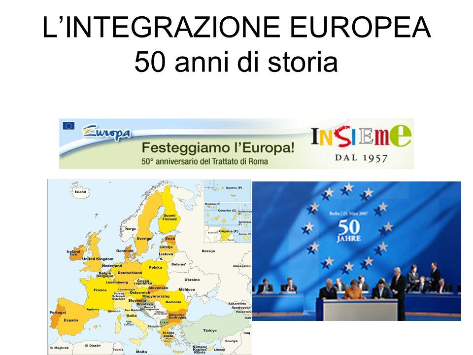L'INTEGRAZIONE EUROPEA 50 anni di storia