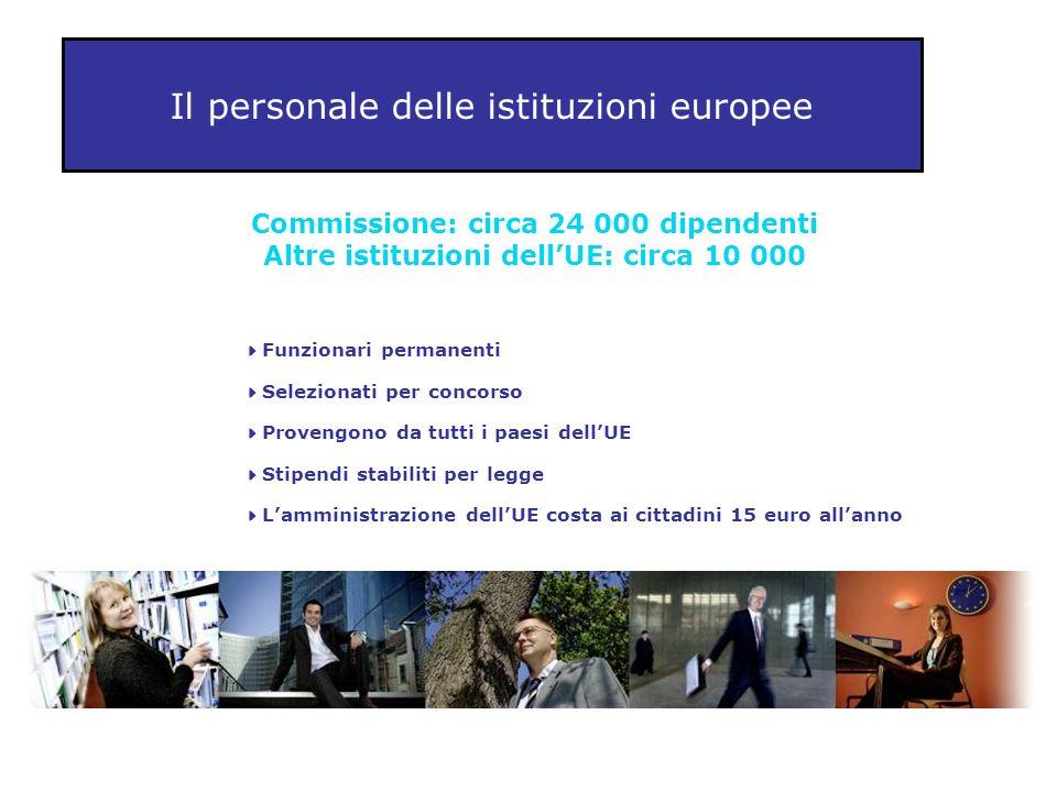Il personale delle istituzioni europee