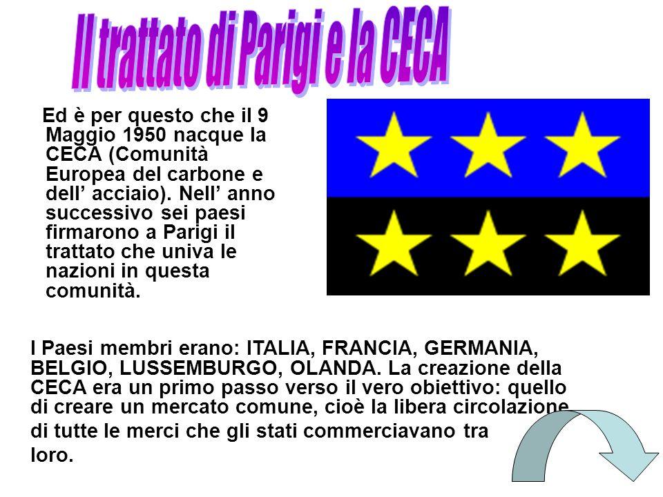 Il trattato di Parigi e la CECA