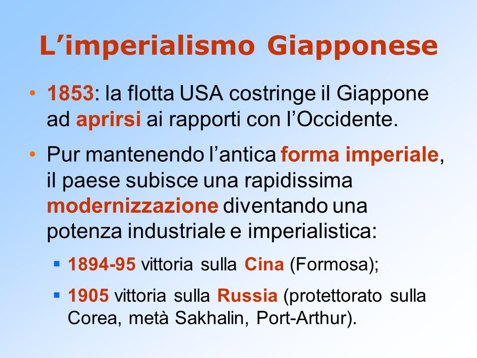 L'imperialismo Giapponese