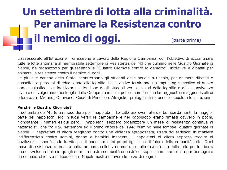 Un settembre di lotta alla criminalità