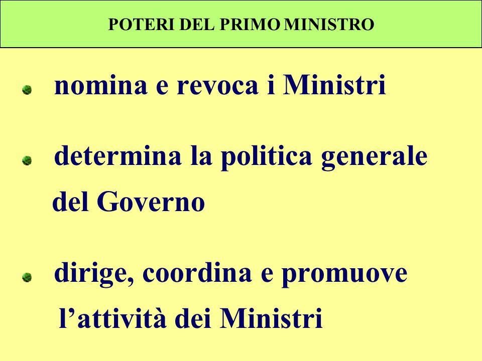 POTERI DEL PRIMO MINISTRO