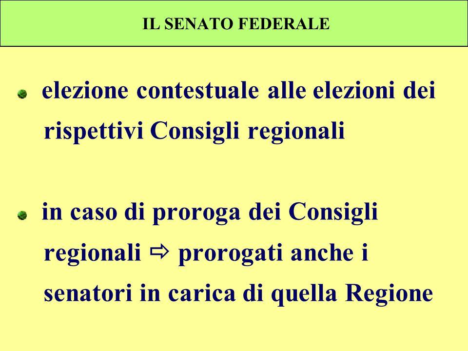 elezione contestuale alle elezioni dei rispettivi Consigli regionali