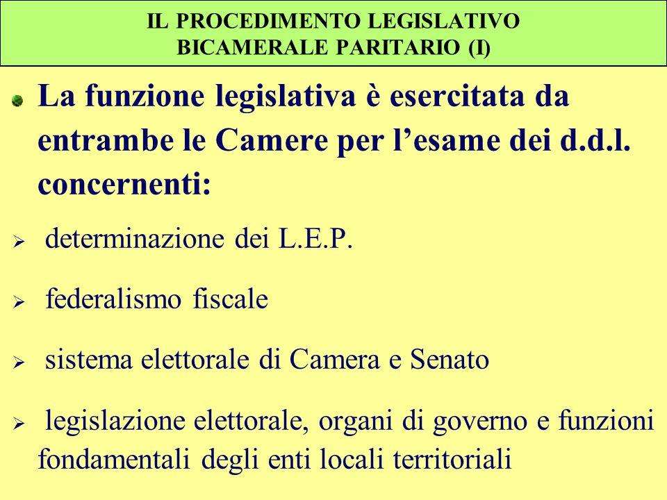 IL PROCEDIMENTO LEGISLATIVO BICAMERALE PARITARIO (I)