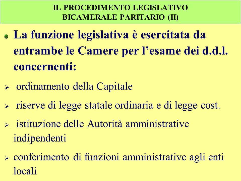 IL PROCEDIMENTO LEGISLATIVO BICAMERALE PARITARIO (II)