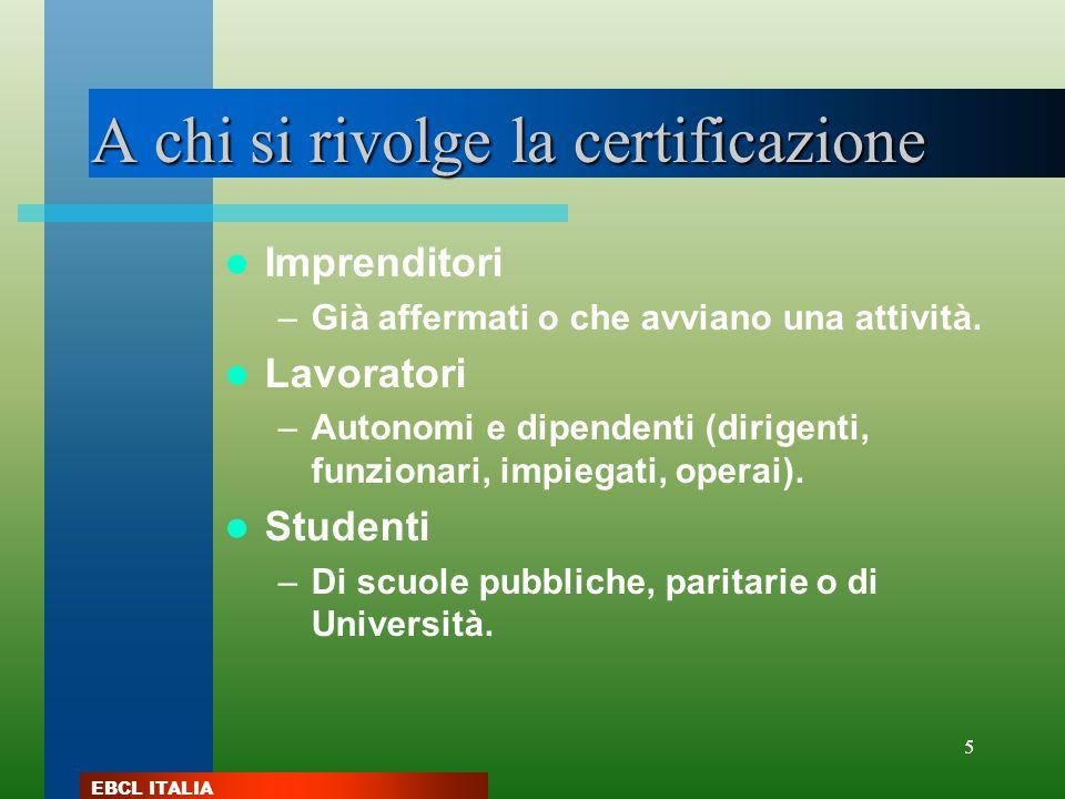 A chi si rivolge la certificazione