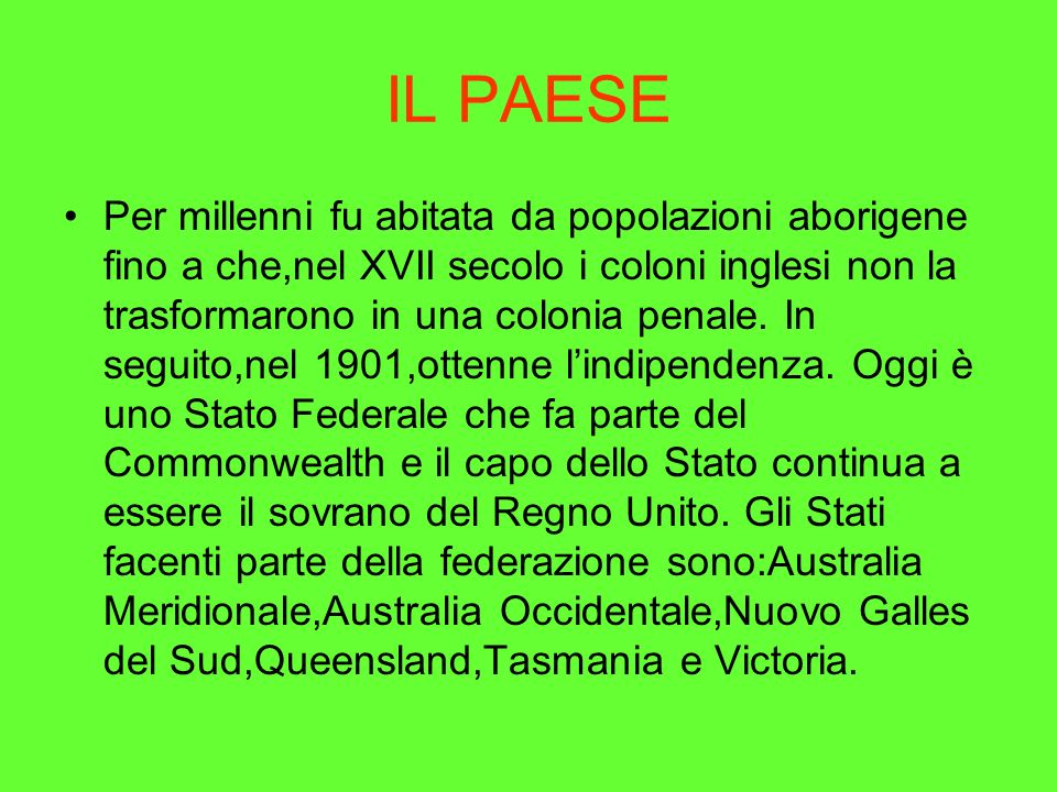IL PAESE