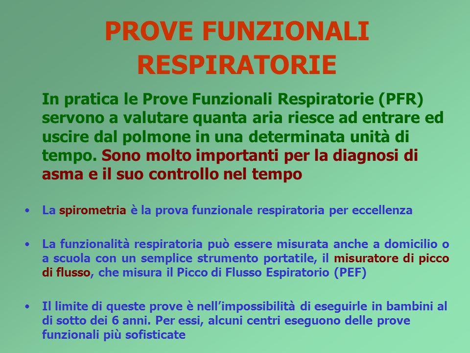 PROVE FUNZIONALI RESPIRATORIE