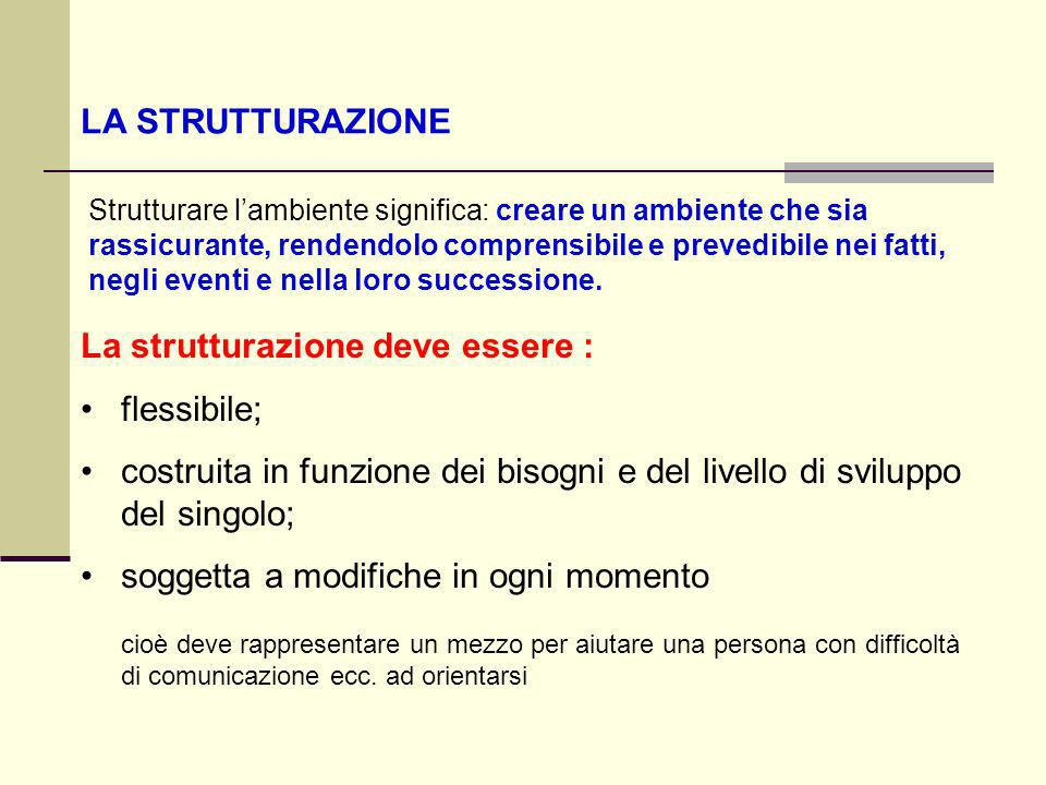 La strutturazione deve essere : flessibile;