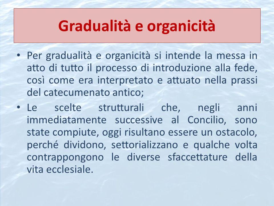 Gradualità e organicità