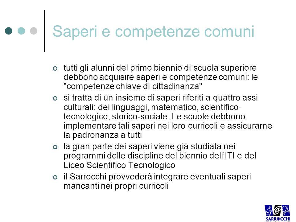 Saperi e competenze comuni
