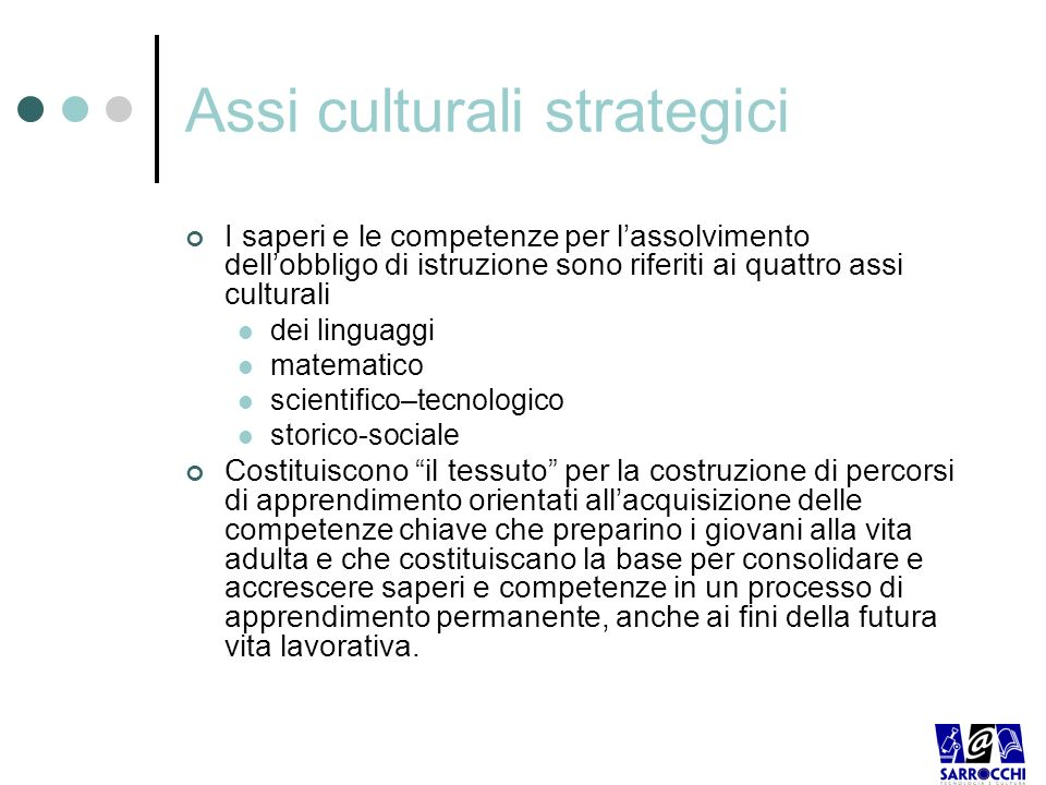 Assi culturali strategici