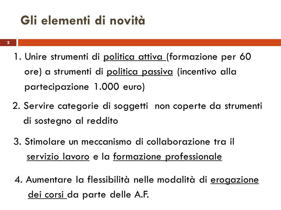 Gli elementi di novità 2.