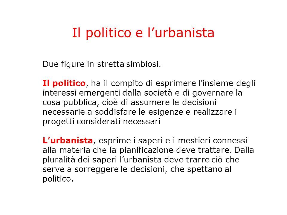 Il politico e l'urbanista