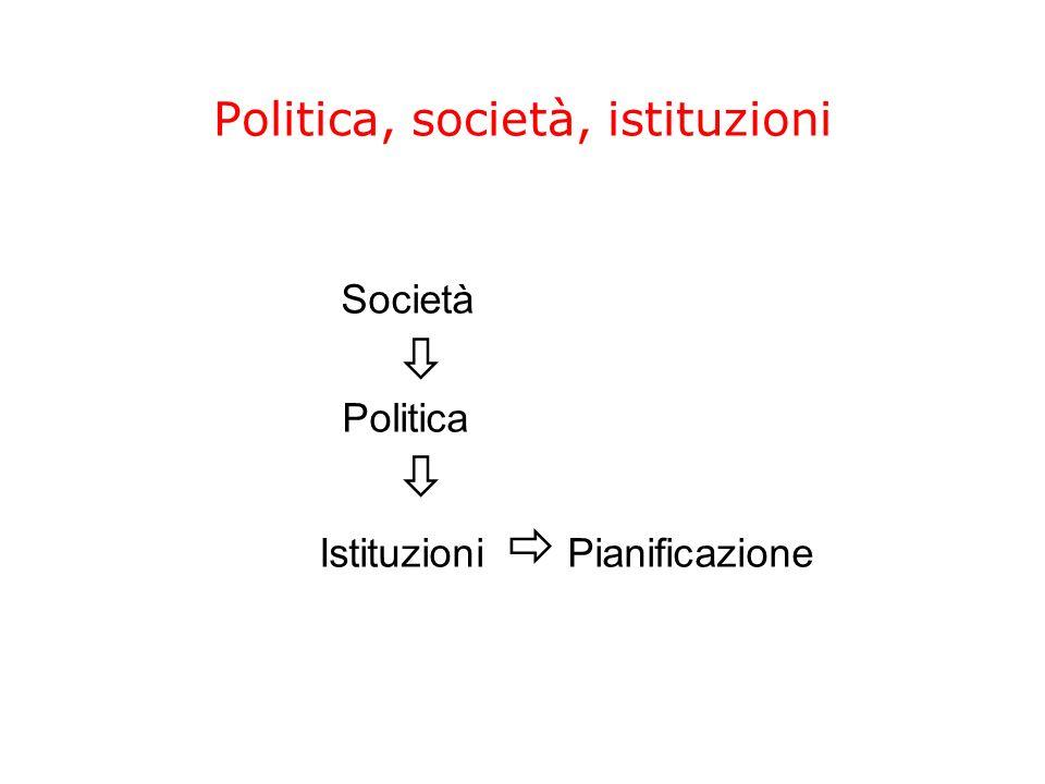 Politica, società, istituzioni