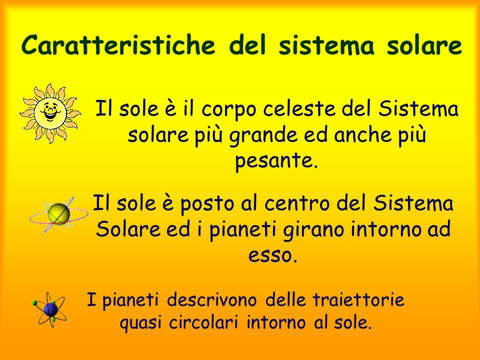 Caratteristiche del sistema solare