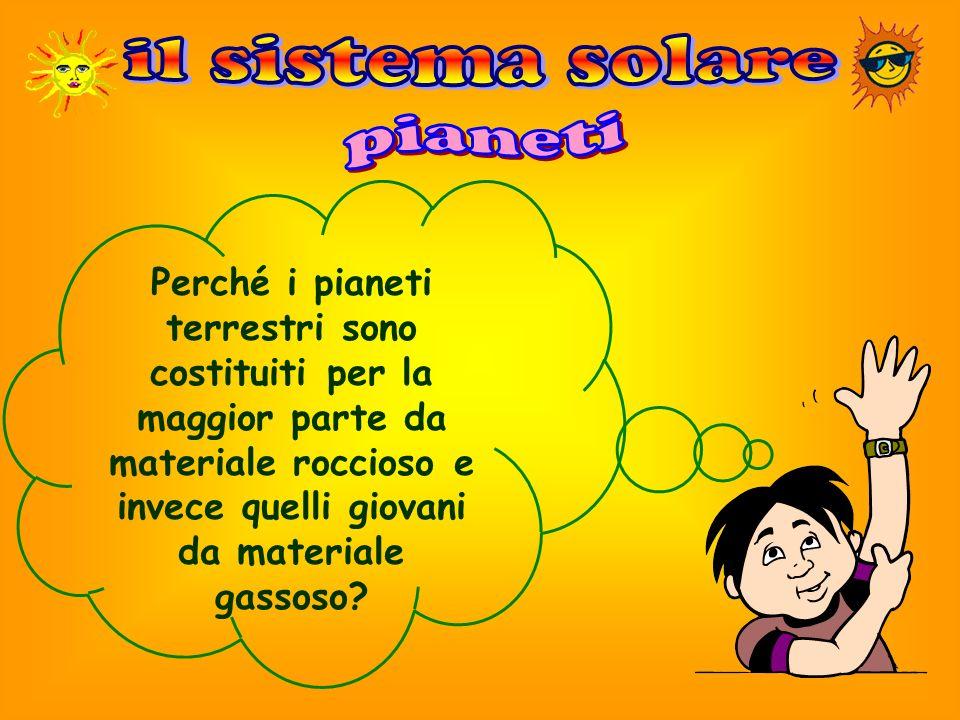 il sistema solare pianeti