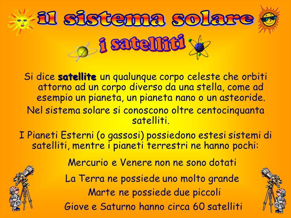 il sistema solare i satelliti