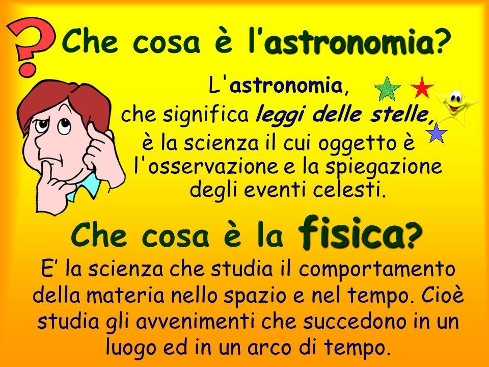 Che cosa è l'astronomia