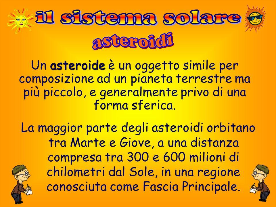 il sistema solare asteroidi