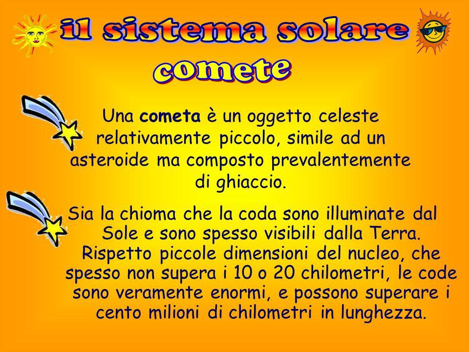 il sistema solare comete