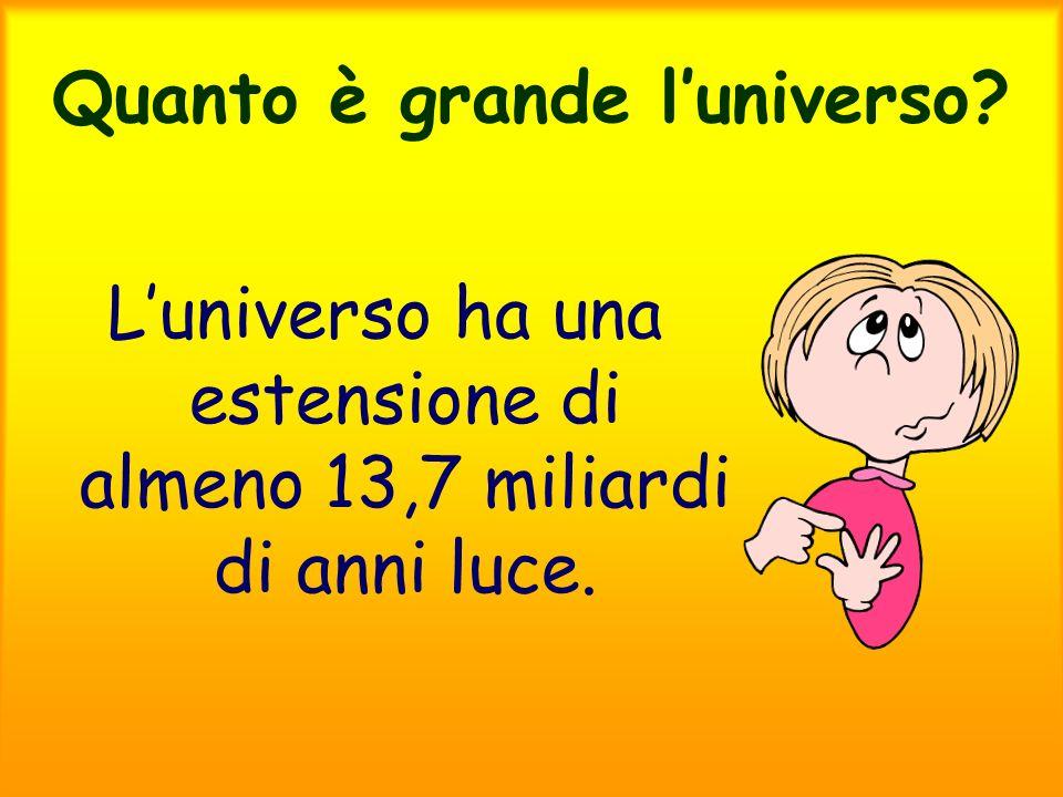 Quanto è grande l'universo