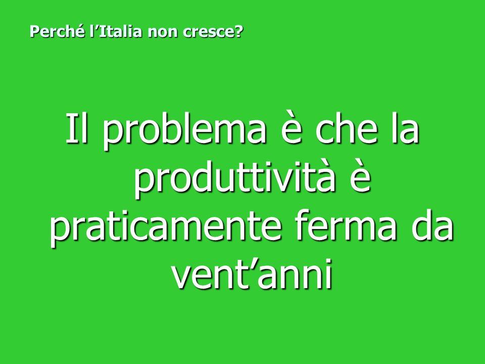 Perché l'Italia non cresce